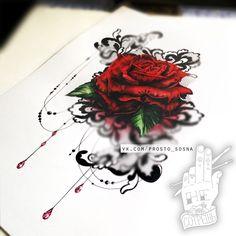Тату Роза в стиле Акварель из категории Роза