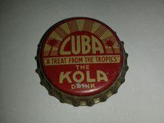 Vintage Cuba Cola Cork Lined Bottle Cap Pre Castro   eBay