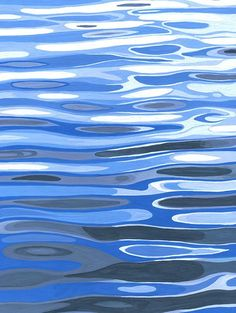 Exhibition [ minima ] art works Tokyo aoyama on Behance - Lyla Marsh Art Aquarelle, Watercolor Paintings, Painting Inspiration, Art Inspo, Posca Art, Water Patterns, Water Ripples, Guache, Water Art