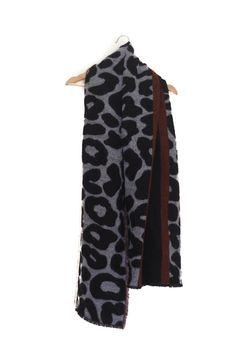 Bufanda estampado animal, lana, Gris negro granate, Otoño Invierno, Zara Scarf, wool, animal print, grey black burgundy, Autumn Winter