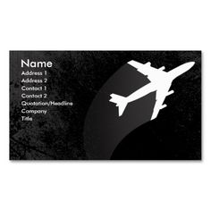 Airplane Business Card Business Card Templates. Make your own business card with this great design. All you need is to add your info to this template. Click the image to try it out!