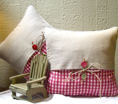 Set de almohada clásico pañuelo Vintage por TeardropHankys en Etsy