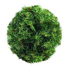 Europalms X-Mas  83500271 Tannenkugel, 25 cm, grün Tannenkugel ¨Dichtgesteckte, tiefgehende Zweige ¨Flammhemmend ¨Mit Aufhängevorrichtung ¨Grün mit natürlich wirkenden braunen Spitzen ¨Durchmesser 25 cm