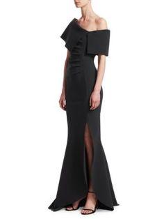 2e19fa8f CHIARA BONI LA PETITE ROBE Egida One-Shoulder Mermaid Gown.  #chiarabonilapetiterobe #cloth
