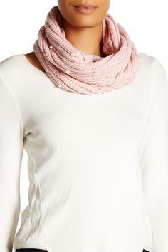 Betsey Johnson Betsey Johnson Crazy For Pearls Snood Blush