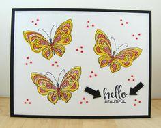 Hampton Art Blog: Hello Beautiful card by Beverly Sizemore