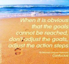 Adjust steps to goals quote via www.facebook.com/WomenInspireNetwork
