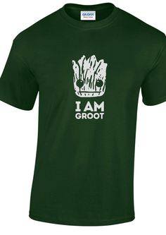 I AM GROOT guardians of the galaxy t-shirt tee by DanniRosePrints