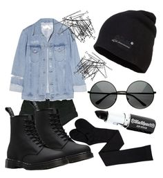 """""""Untitled #29"""" by hollymellor ❤ liked on Polyvore featuring Superdry, MLC Eyewear, Levi's, Acne Studios, H&M and Dr. Martens"""