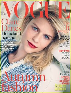Claire Danes Covers 'British Vogue' November 2013