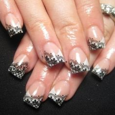 Lace Nail Art Designs - Enjoy the charming prettiness of the latest nail art styles and try your hand at these fab lace nail art designs that would definitely make you sigh. Give a soft and sensuous allure to your manicure and combine the various eye-popping or more neutral shades into a flawless and enchanting nail art. Have a look at the most inspiring examples below and use the best tools to create the romantic and pretty patterns.