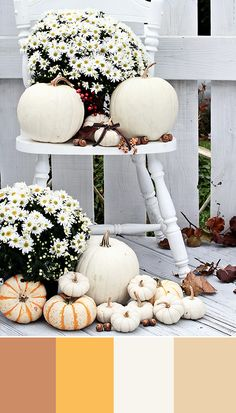 White pumpkins are the season's biggest decor trend! Incorporate this chic yet classic touches indoors and outside for a stunning holiday look! For more decor and design inspiration - bhgrelife.com #FallPinLove