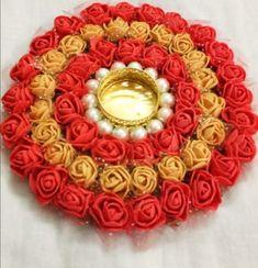 Diy Diwali Decorations, Diwali Diy, Flower Rangoli, T Lights, Diy Crafts Hacks, Flowers, Royal Icing Flowers, Flower, Florals