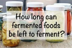 Fermentation Guide - How long can fermented foods be left to ferment? You can let your vegetables ferment for several weeks, months or days, but it depends on some things. Fermentation Recipes, Canning Recipes, Raw Food Recipes, Vegetable Recipes, Healthy Recipes, Healthy Food, Celiac Recipes, Canning Tips, Frugal Recipes