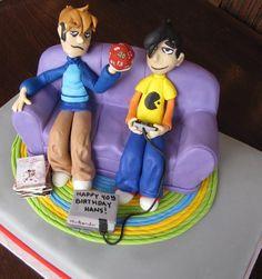 == Video Game cake as seen Ion Cake Wrecks ==