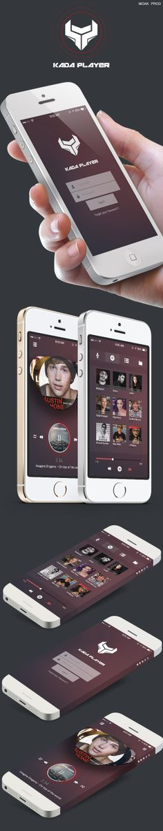 Kada Player Music Application by MOAK PROD, via Behance