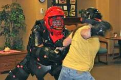 Women at the Mission receive training in self-defense against assault.