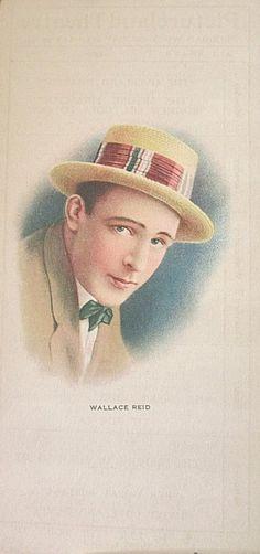 1917 Wallace Reid MOVIE STAR Theater Program Week Card Pictureland Theatre