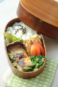 miso yellowtail bento by shok, via Flickr