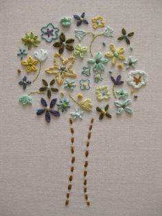 tree by Aneela Hoey.......beautiful embroidery