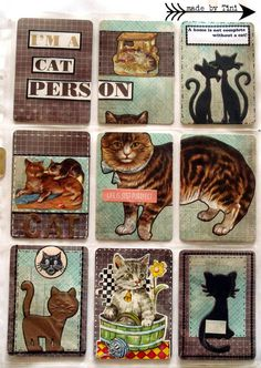 Arts by Tini: My Pocket Letters - Cats Pocket Letter