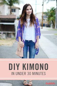 Under 30 minutes Kimono diy idea how to make tutorial sew