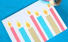 Invitaciones de cumpleaños hechas con washi tape - Invitaciones para cumpleaños y fiestas infantiles - Fiestas y Cumples - Charhadas.com