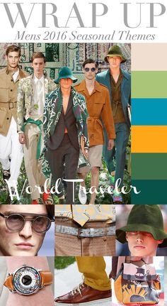 Wrap up: Mens 2016 seasonal themes  Source: Trend Council