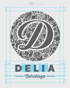 Client Work: Delia López Identidad de Marca / Brand Identity by oias | for more visit: http://be.net/oias | http://oias.me | contact: hi@oias.me FULL project: https://www.behance.net/gallery/58933503/Delia-Lopez-Brand-Identity nutrición, nutrióloga, nutritionist, dietitian, logo, emblem, blue, stationery, business card, letterhead, invitation, process, brochure, triptico