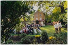 A Fall Wedding in the courtyard of Historic Yellow Springs.