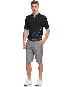 Greg Norman Performance Shark Polo & Plaid Shorts
