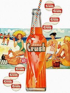 Vintage Ads : Orange Crush Vintage Advertising Campaign Orange Crush Advertisement Description Orange Crush Sharing is love ! Posters Vintage, Retro Poster, Vintage Signs, Vintage Ads, Vintage Food, Vintage Photos, Vintage Photographs, Old Advertisements, Retro Advertising