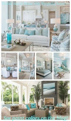 Home Decoration Ideas For Christmas Florida Beach House with Turquoise Interiors.Home Decoration Ideas For Christmas Florida Beach House with Turquoise Interiors Coastal Bedrooms, Coastal Living Rooms, Coastal Homes, Coastal Decor, Coastal Style, Coastal Cottage, Coastal Farmhouse, Farmhouse Style, Modern Coastal