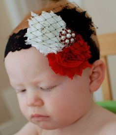 Christmas Red White & Black Chic Shabby by PinkGigglesBoutique, $14.75