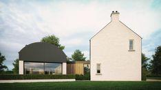 No. 34 - McAleenan NI Cottage Exterior, Modern Farmhouse Exterior, Farmhouse Style, Country Modern Home, Old Country Houses, Barn Renovation, Farmhouse Renovation, Barn House Conversion, House Designs Ireland