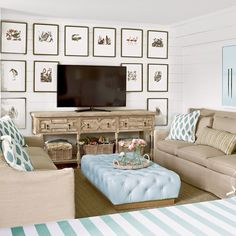 We're interrupting our amazing Cinnamon Shore Showhouse install coverage to pay homage to the (beautiful, fun, and functional!) past! We dedicate this #tbt to the 2012 Showhouse in Rosemary Beach, Florida. A gallery wall is such a simple way to add dimension to a room! #clshowhouse #clbeachcottage