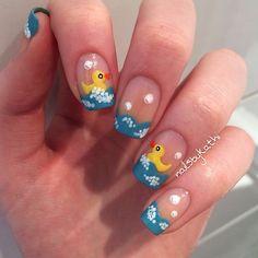 Fun fishys cute nail art for a little girl in the summer nail nailsbykathi nail nails nailart more prinsesfo Gallery