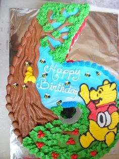 """Number Cake """"Pooh"""" By mary-lou on CakeCentral.com"""