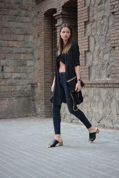 zara shoes, zina charkoplia, fashionvibe, saint laurent bag, black