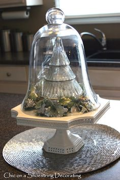 Chic on a Shoestring Decorating: Christmas Cloches