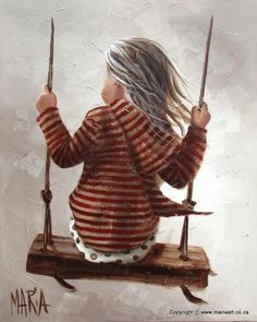 Children and Art: Maria Magdalena Oosthuizen Painting & Drawing, Watercolor Paintings, South African Artists, Painting People, Art Et Illustration, Beautiful Paintings, Art For Kids, Art Photography, Artsy