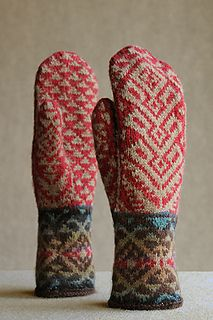 Knitting Patterns Mittens Ravelry: Kilim mittens pattern by Carol Sunday Knitted Mittens Pattern, Crochet Mittens, Fingerless Mittens, Knitted Gloves, Knitting Socks, Hand Knitting, Knit Crochet, Crochet Granny, Loom Knitting