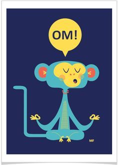 Yoga for Kids Monkey Illustration, Yoga Illustration, Monkey Mind, Year Of The Monkey, Yoga Art, Yoga For Kids, Oui Oui, Yoga Quotes, Yoga Inspiration
