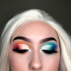 29 Carnival Make Up Copy Now - Samantha Fashion Life - 29 Carnival Make Up Copy now – Via www.achotendencia… Make-up, Carnival, Idea, colorful – - Makeup Eye Looks, Eye Makeup Art, Colorful Eye Makeup, Cute Makeup, Eyeshadow Looks, Pretty Makeup, Makeup Inspo, Eyeshadow Makeup, Makeup Inspiration
