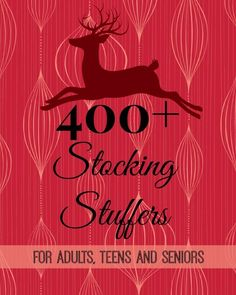 Here is a gigantic list of 400+ stocking stuffer ideas for adults, teens and seniors, with virtually all under $20