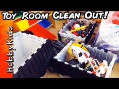 Toy Room Clean Out! HobbyMom Sorts and Separates the Toys HobbyKidsTV