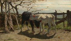 De kalfjes, Willem Maris, 1863, Mesdag Collectie.