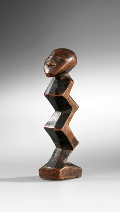 "Africa | ""Zigzag"" Statue from the Lega people of the Democratic Republic of Congo 