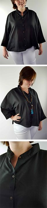 Our Grace Cape is a fabulously oversized + 'artsy' blouse. This flowy piece of genius is one size in a style that can work for our petite women as much as our plus size beauties. Made from super lightweight cotton this shirt is a great one for travelling to warm climates. Packs light, easy wash + wear. With the batwing sleeves and mandarin collar this blouse certainly has a style of its own and looks fabulous dressed up with beads + stones.  Shop this style > Online or visit us in Noosa! <3