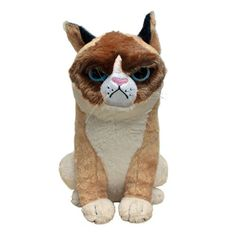 Look at the the ADORABLE TICKED OFF GRUMPY CAT PLUSH!!! Whoever gets me this is my friend for life.